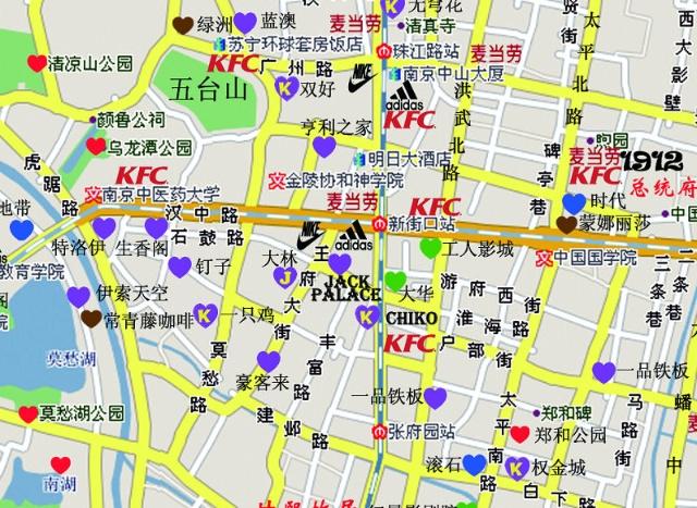 南京市高清地图全图;