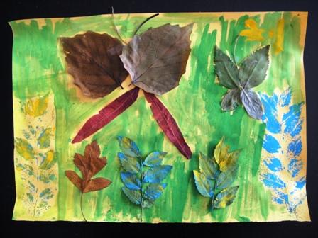 美术教学设计——用树叶作画