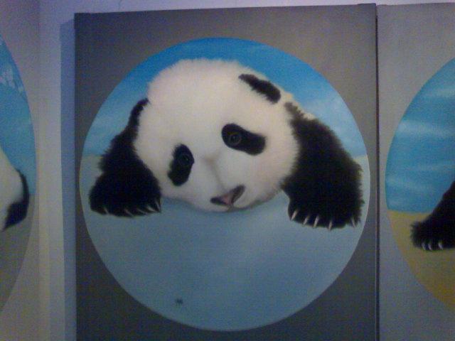 这个熊猫太可爱了,我瞅了他好久.