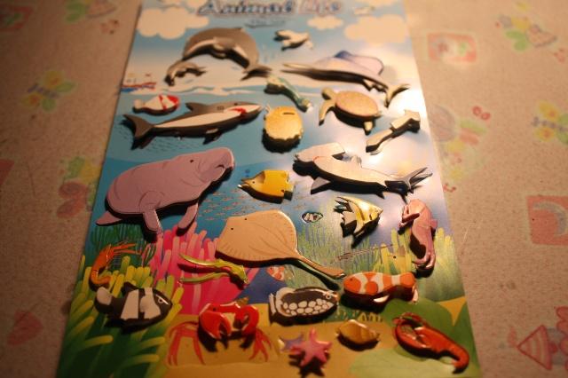 小贴画,海底世界和南极世界,我又浪费钱,可是我太喜欢了.