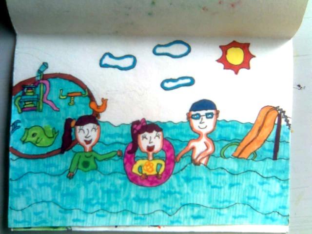 我健康我快乐儿童画_暑假作业大展览——《我的暑假快乐生活》-宝贝和妙白菜-搜狐博客