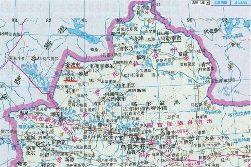 图:铁列克堤位于新疆塔城地区