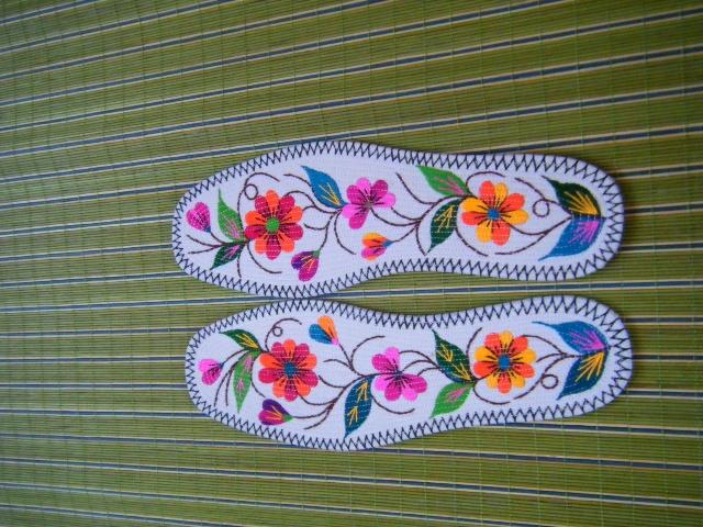 织鞋花鱼花图纸