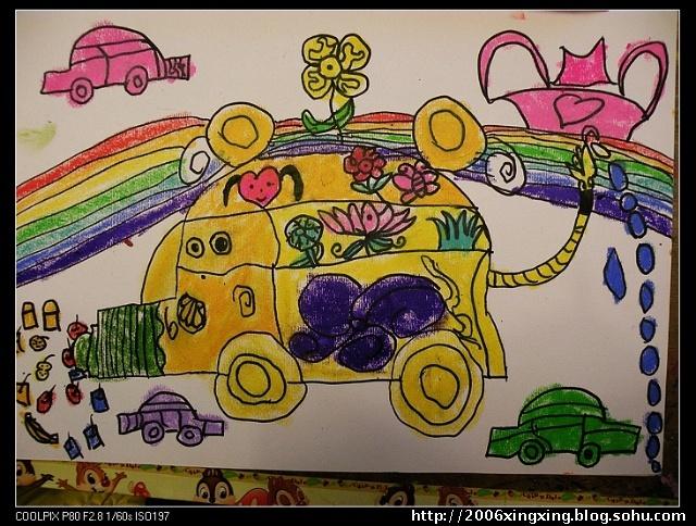 儿童画画我的家乡南通
