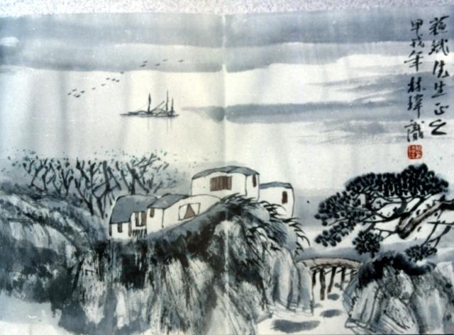 从林玮山水画的题款中得知,他是大梁开封人,作为画家的他