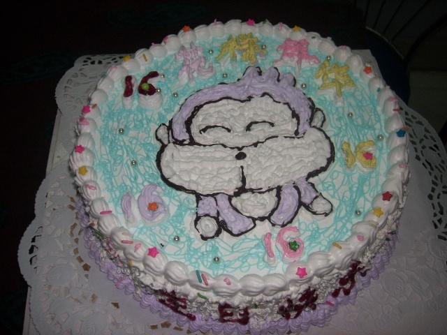 儿子同学的小猴蛋糕