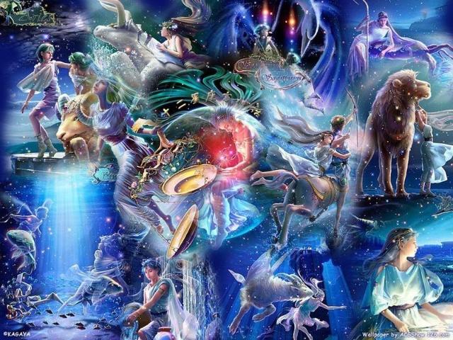 十二星座梦幻图,星空图
