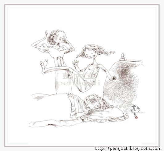 绿山墙的安妮 插图 铅笔稿