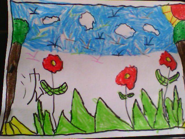 画一幅春天的图画