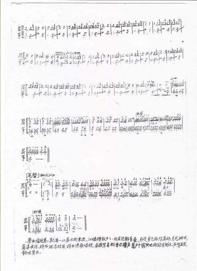 春江花月夜琵琶古筝二重奏谱