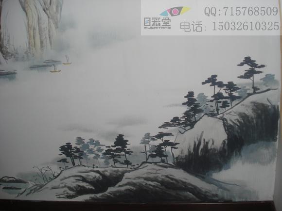 彩铅手绘图山水