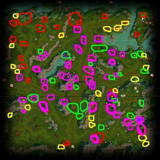 天龙八部生活采药采矿地图