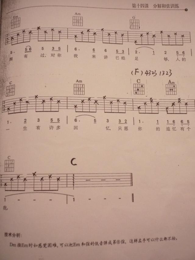 梁祝 吉他独奏 五线谱
