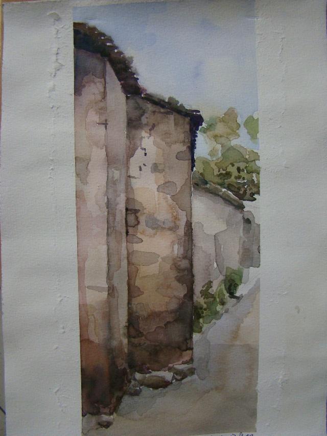 西递水粉_安徽、安徽宏村和它的附近地方 写生 上传我的水彩吧 第图片