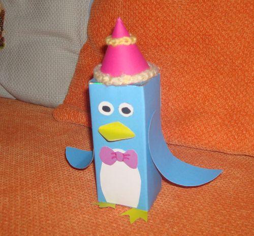 废纸盒手工制作小动物图片 废纸盒手工制作小房子,废纸盒手
