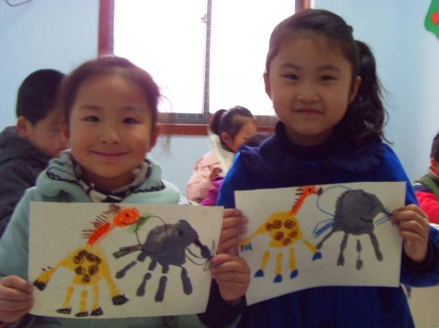 大班手掌画绘本故事《动物园》
