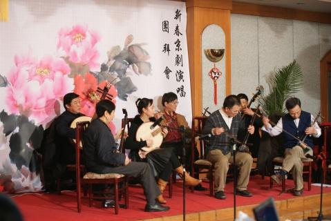 京剧乐队在伴奏