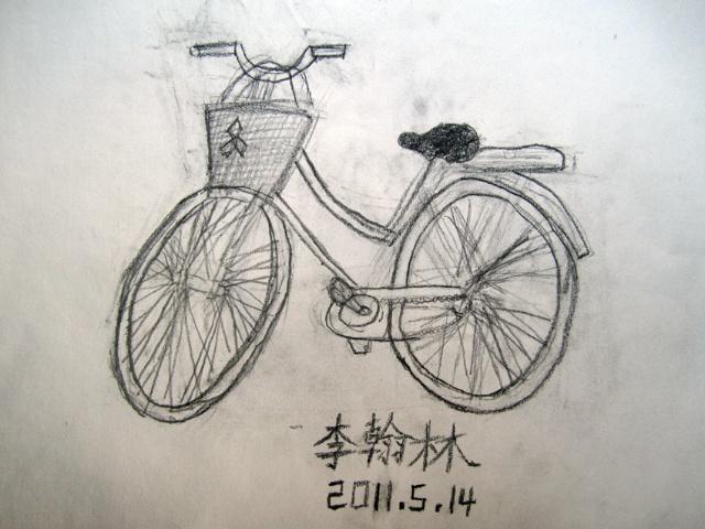 皮卡丘折纸,自行车写生