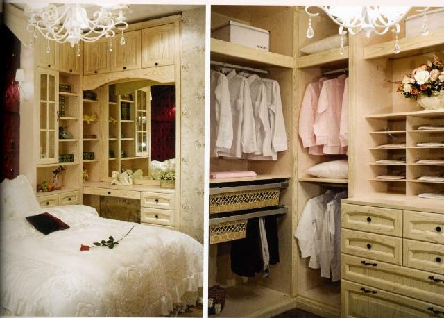 家庭欧式白色小衣帽间柜设计图