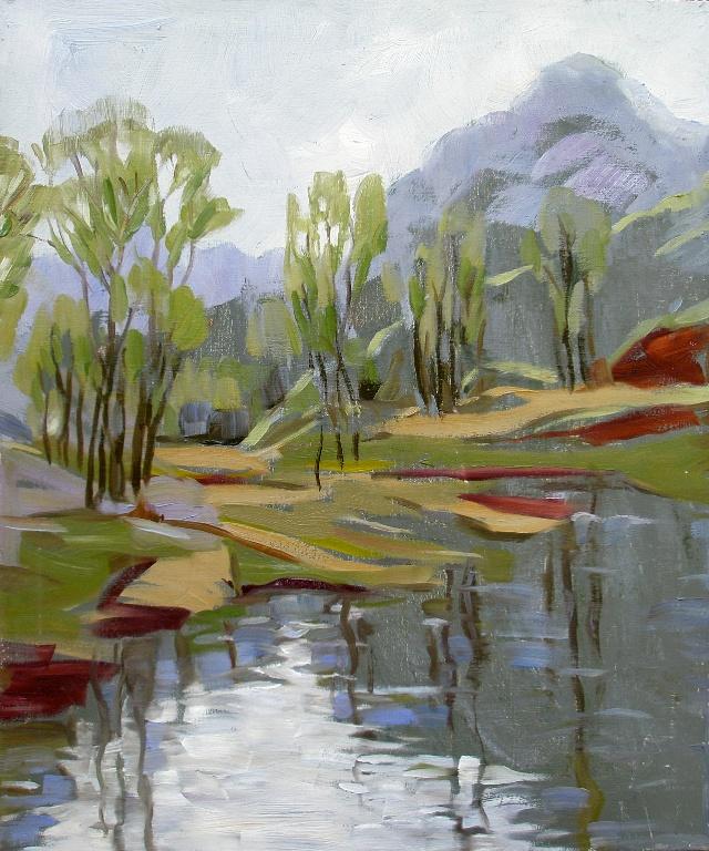 李小争油画《崎峰茶小景》   [中国宋庄环岛艺术区] 20110523