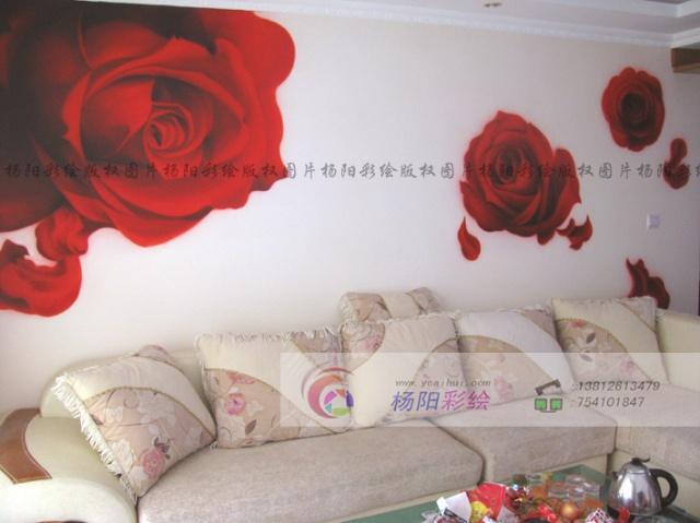 手绘玫瑰花-婚房装饰-温馨浪漫-苏州手绘墙-我的搜狐