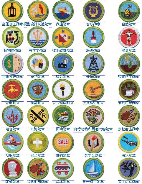 秒杀少先队五道杠,美国童子军百枚荣誉徽章