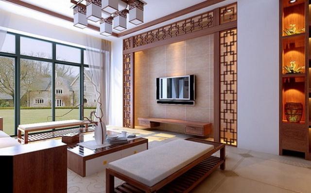 新中式建筑木格栅