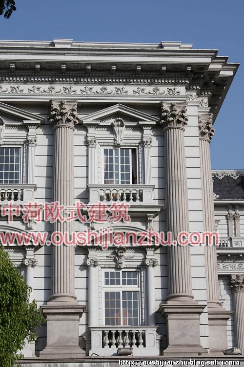中菏建筑施工案例-上海闵行法院细部(四)-欧式建筑
